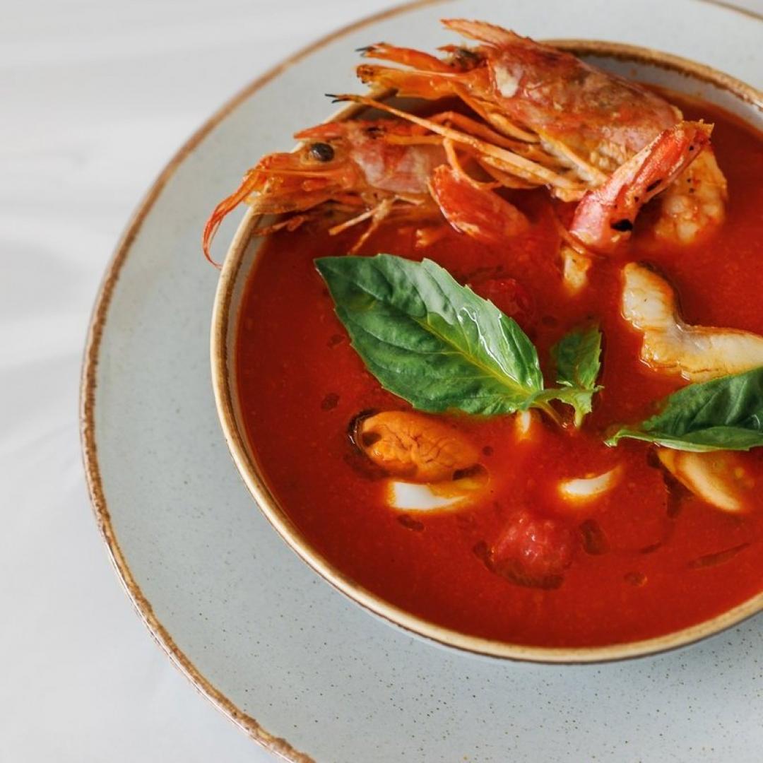 Суп морской с лангустинами