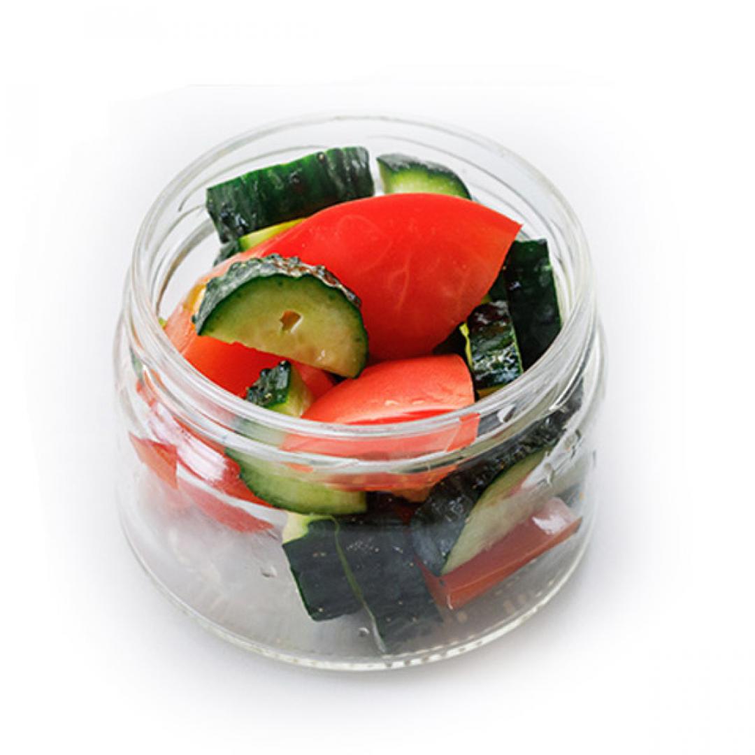 Мини салат Помидорки-Огурцы